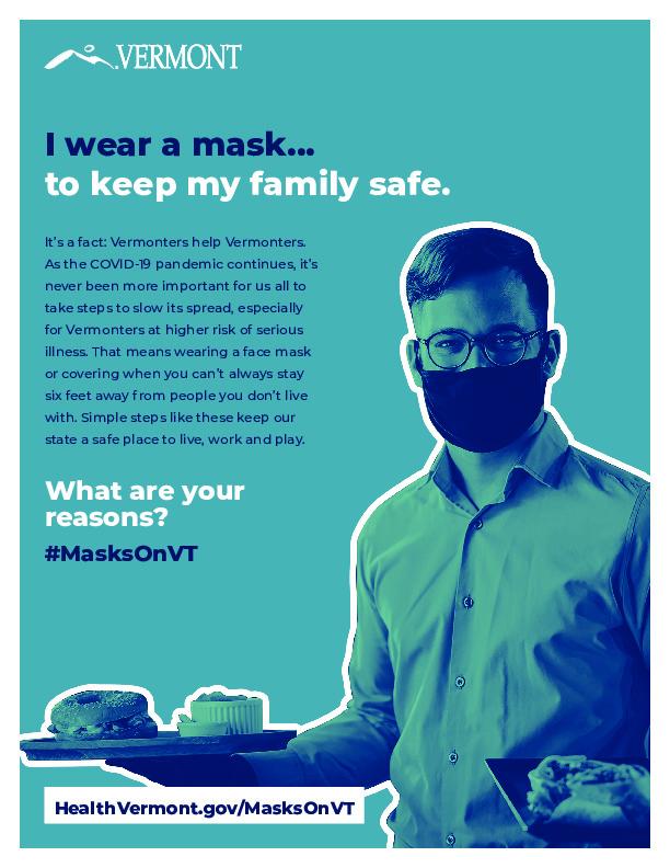 Poster - I Wear a Mask - Restaurant Server - 8.5x11.pdf