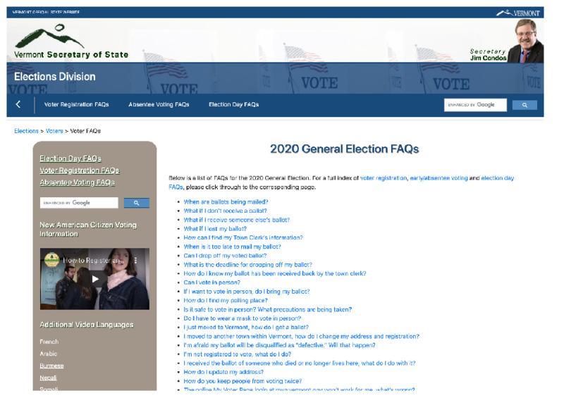 VermontSOS2020ElectionFAQs.pdf