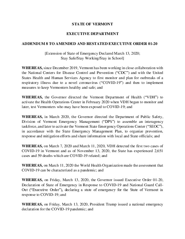 ADDENDUM 8 TO AMENDED AND RESTATED EXECUTIVE ORDER 01-20.pdf