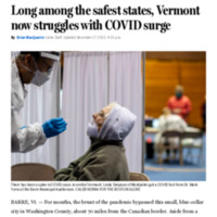 Long among the safest states, Vermont now struggles with COVID surge - The Boston Globe.pdf